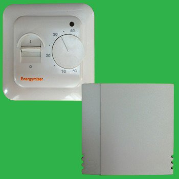 Underfloor heating thermostat with bathroom remote air for Heated bathroom floor thermostat