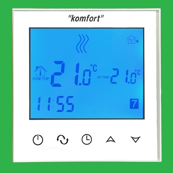 Komfort Touch Screen Glacier White Programmable