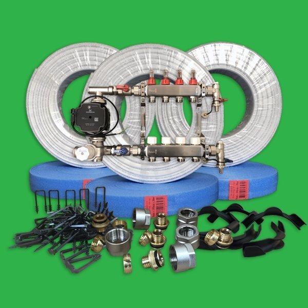 Underfloor Heating Staple Kit 80 M 178 Water Ufh Pack