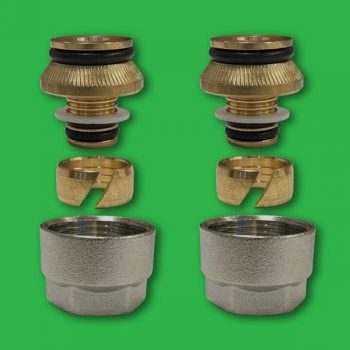 Underfloor Heating Eurocone 16mm PertAL Coupling Nuts