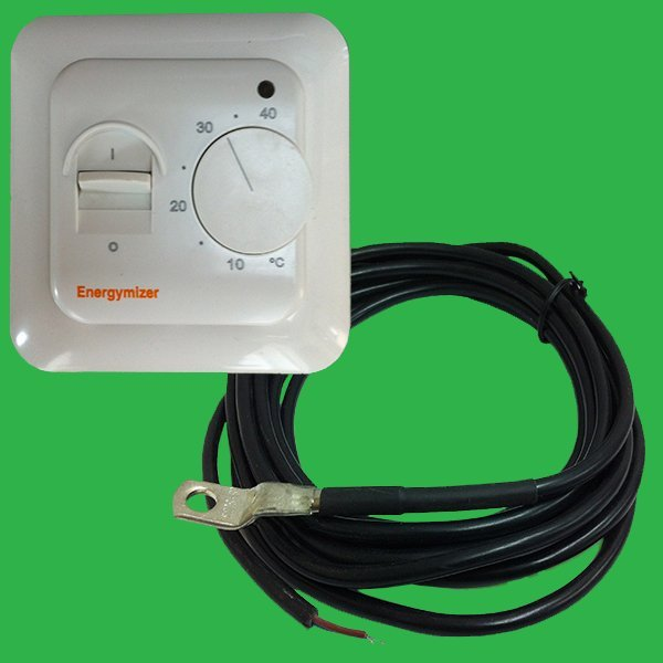 Thermostat With Wired Remote Sensor | Ufh Room Thermostat With Remote Plate Sensor Underfloor Parts