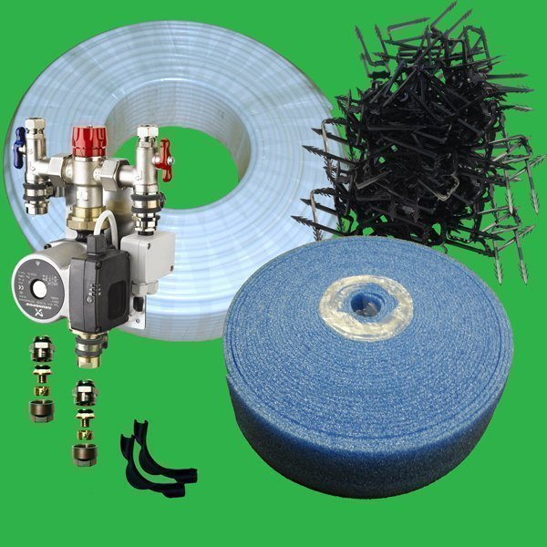 Single Room Water Underfloor Heating Staple Kit P1100s For