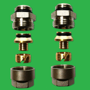 "16mm Multilayer (Ali) x 1/2"" BSP Male thread (Sold as a Pair) UPMI03"