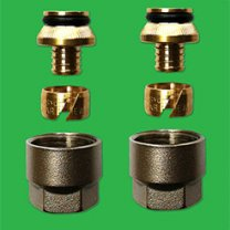 14mm Pex & Pert Manifold Couplings - sold as a pair UPDCF02