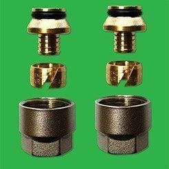 16mm PexAL - AlPert Manifold Couplings - sold as a pair UPDCF06