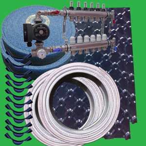 60m² Floor Tray Wet Underfloor Heating Pack/Kit P3300T