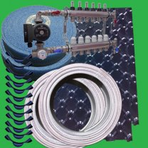 80m² Floor Tray Wet Underfloor Heating Pack/Kit P4400T