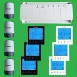 UFH Timed Zone Control Pack Touch Screen Thermostats & Actuators