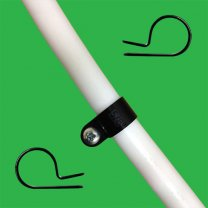 16mm Nylon P Clip for Pipes & Cables x 50