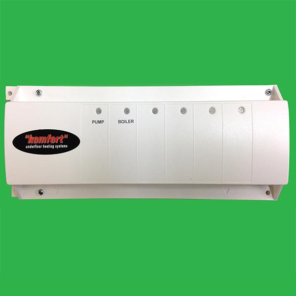 underfloor heating 4 zone master 230v control wiring centre / unit  watts  / komfort