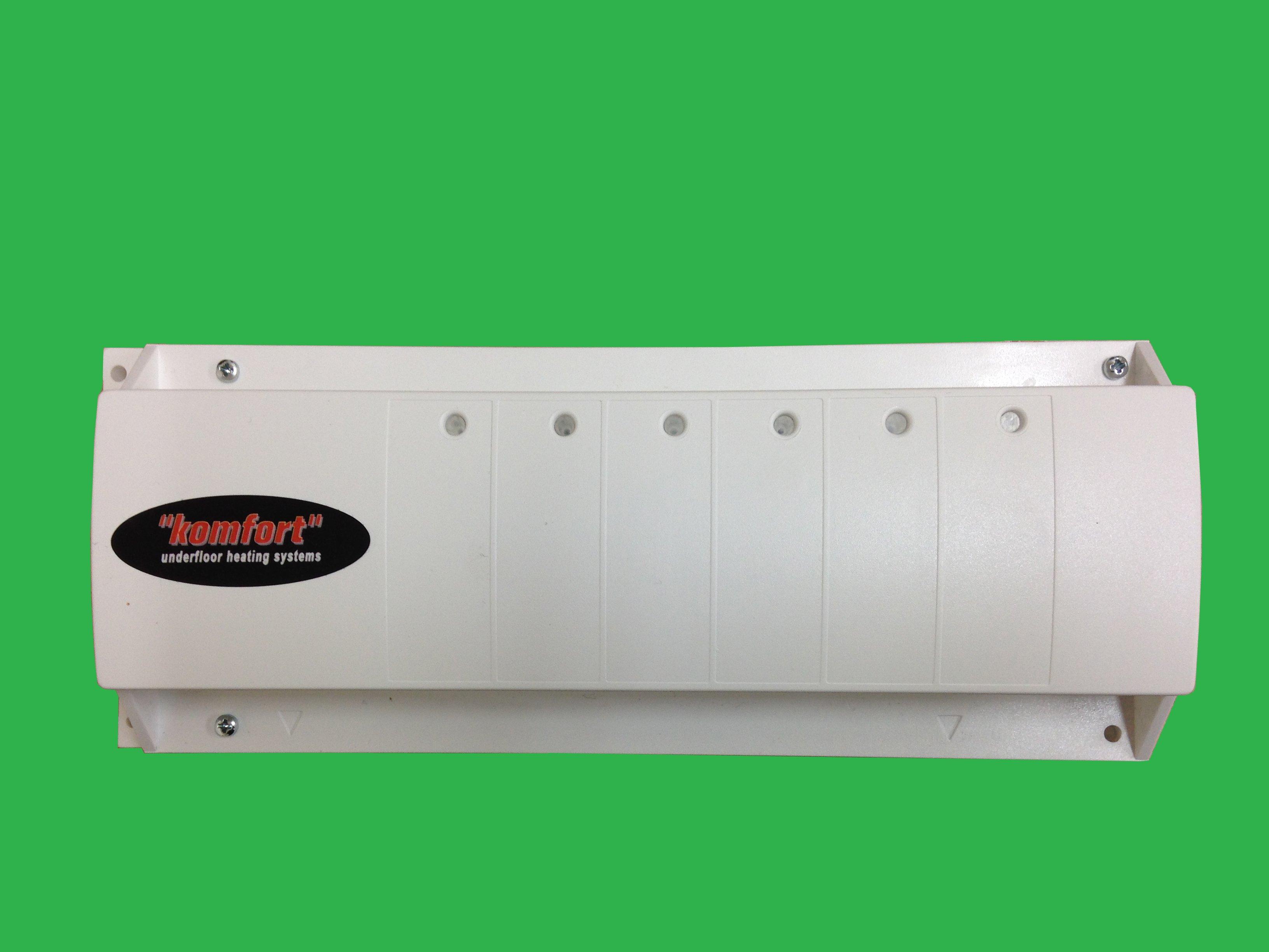 Watts / Komfort Wiring 6 Zone Master Unit 230v on basement heating, ceiling heating, boiler heating, wall heating, home heating, infloor heating, water heating, radiator heating, oil heating, gas heating,