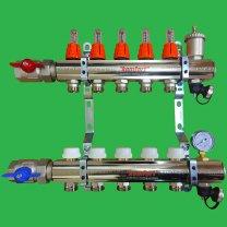Komfort 8 Port Underfloor Heating Manifold,Ball Valves & Flow Meters