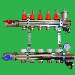 Komfort 9 Port Wet Underfloor Heating Manifold Made in Italy
