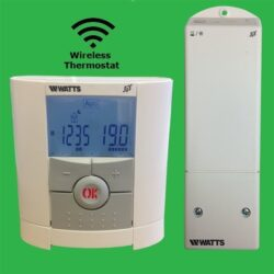 Watts Vision RF Wireless Thermostat, Radio Frequency Receiver & Floor Sensor Probe