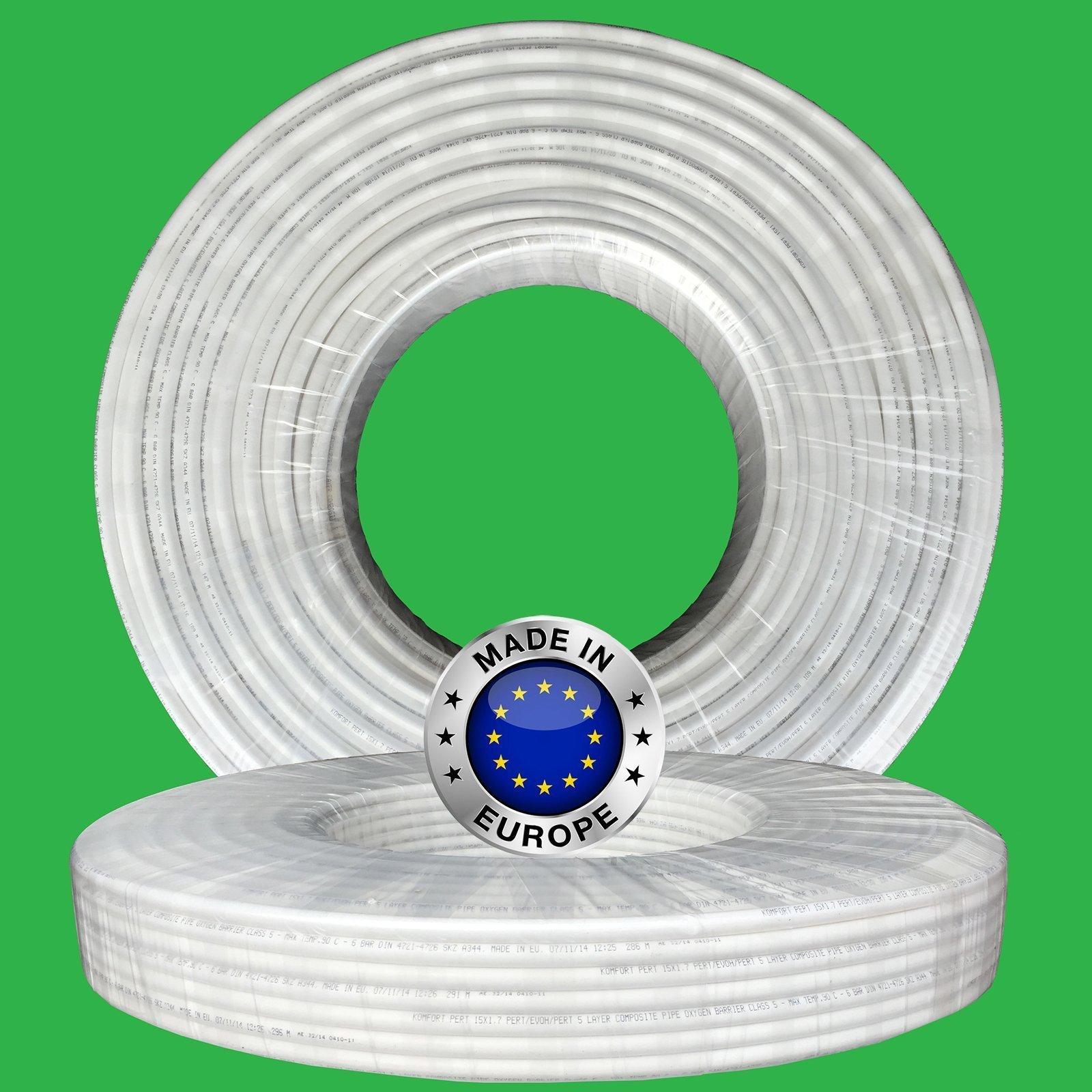 10mm X 100m Komfort White 5 Layer Barrier Pe Rt Pipe