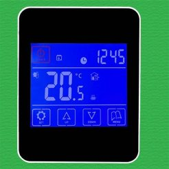 Reliance Black TouchScreen UFH Programmable Thermostat