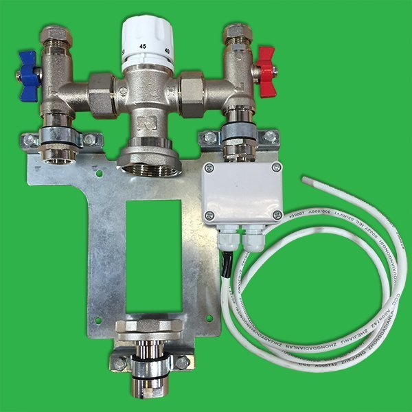Single Loop Thermostatic Blending Valve Assembly No Pump