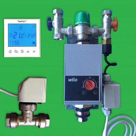 Underfloor Single Circuit Pump Control, Programmable Thermostat & Valve