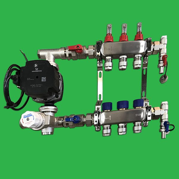 Reliance Underfloor 3 Port Manifold and Pump Set