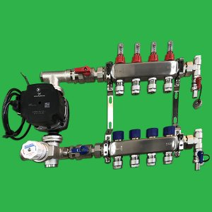 Reliance Underfloor 4 Port Manifold and Pump Set