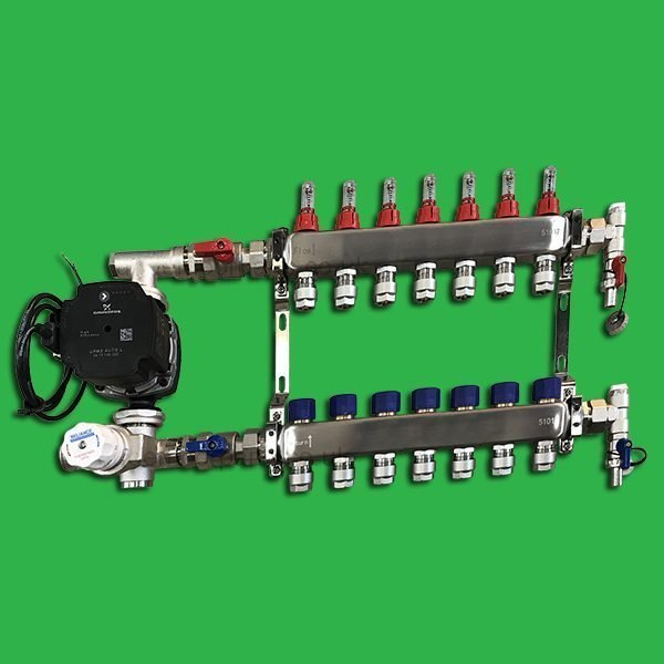 Reliance Underfloor 7 Port Manifold and Pump Set