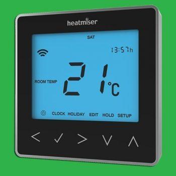 Heatmiser NeoStat Programmable Smart Thermostat 12v - Black