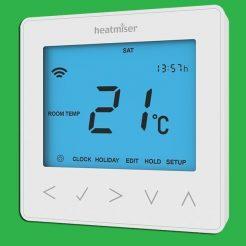 Heatmiser NeoStat Programmable Smart Thermostat 12v - Glacier White