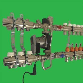 FCU-HE Dual Underfloor Heating and Bathroom Radiators High Temperature Manifold