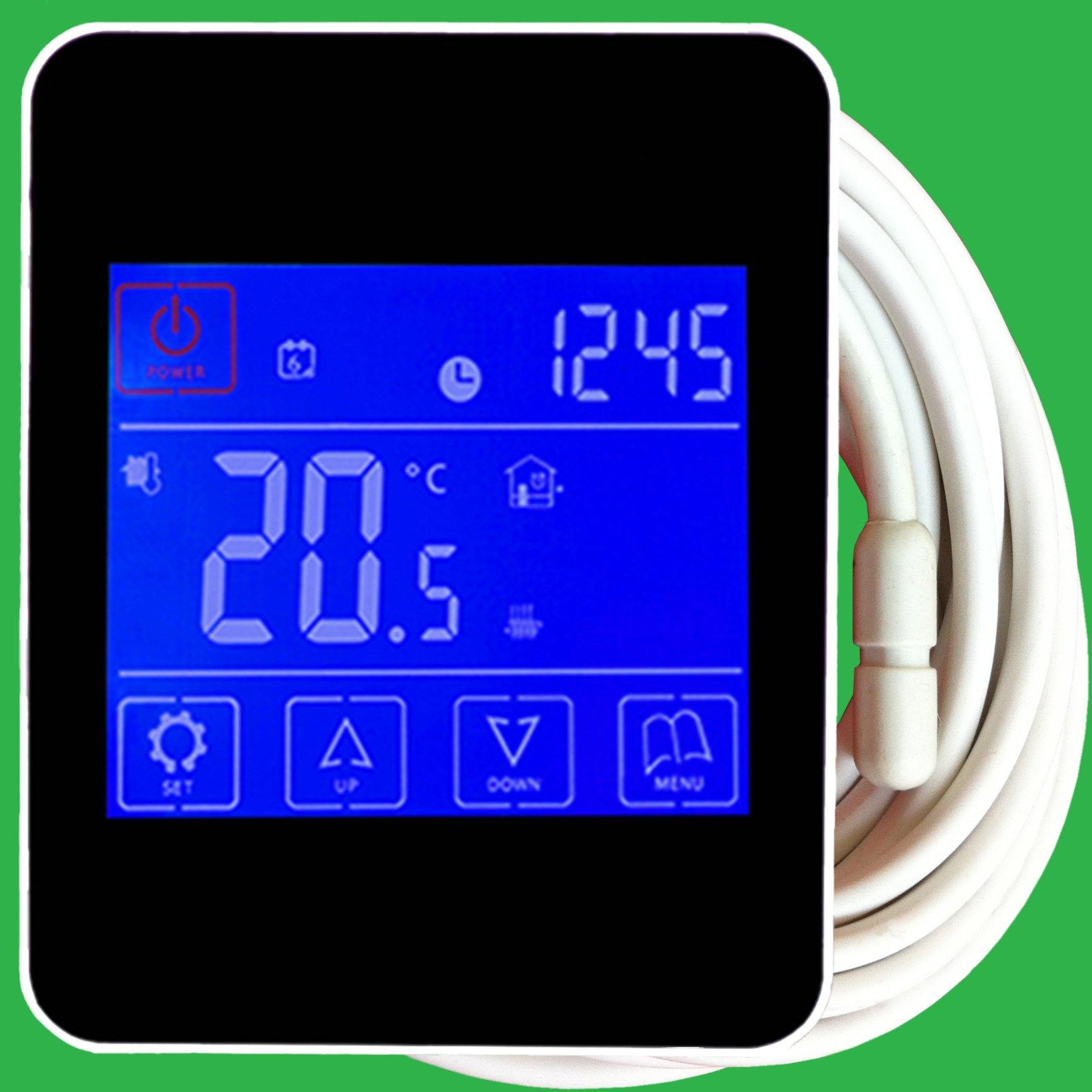 Reliance Black Touchscreen Underfloor Heating Thermostat