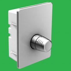 Underfloor Heating Chrome Plated Single Room FHV Regulating Valve for Small Rooms