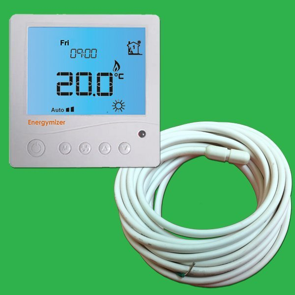 Ufh Programmable Thermostat With Screed Sensor Probe