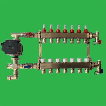 Heat Pump Control Pack and Underfloor Manifold