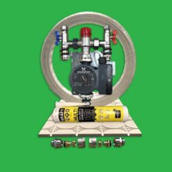 Overlay Underfloor Heating System 20m² - Gypsum Fermacell Kit with Pump Control Unit - Polypipe Polyplumb Alternative