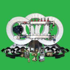 Underfloor Heating Kit - 120m² Plated Water UFH Pack P6600PL