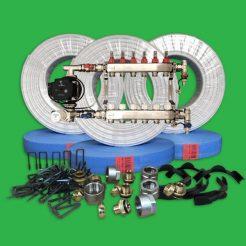 Underfloor Heating Staple Pack - 120 m² Water Multi Room Kit P6600S