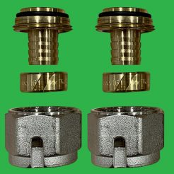 Emmeti Monoblocco 17/2 mm Coupling set for PE-RT,PB and PEX pipe - 28110122