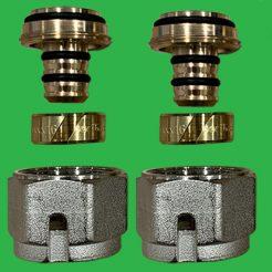 Emmeti Monoblocco 16/2 mm x 1 PAIR Couplings - MLCP MultiLayer composite pipe -28100358