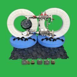 Underfloor Heating Kit - 40m² Floor Tray Pack P2200T