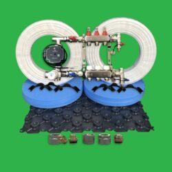 Underfloor Heating Pack - 60m² Plastic Floor Tray Kit P3300T