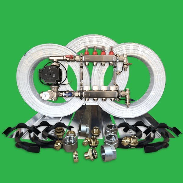 Underfloor Heating Kit - 80m² Plated UFH Pack P4400PL