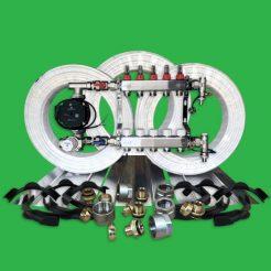Underfloor Heating Kit - 100m² Plated UFH Water Pack P5500PL
