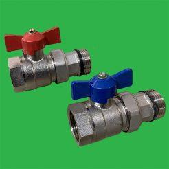 """1"""" Underfloor Heating Manifold Ball Valves / pr"""