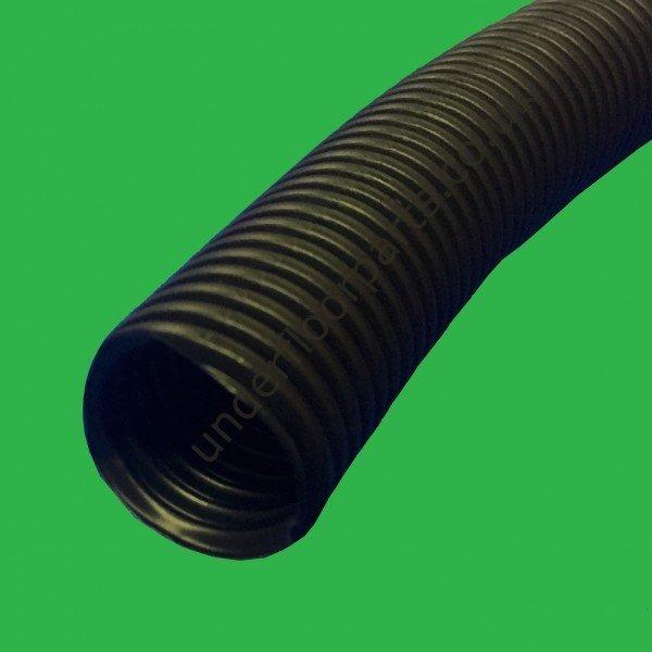 Underfloor Heating Corrugated Conduit - 19mm Black Flexible Pipe Sleeve