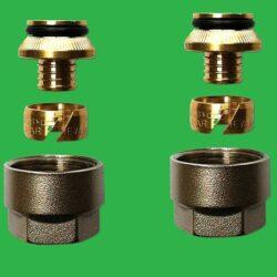 16mm x 1 PAIR - Pex, Pert UFH Manifold - Pipe Couplings