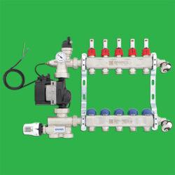 Emmeti FMU3 - Floor Mixing Unit with 9 Port Underfloor Heating Manifold