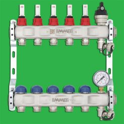 Emmeti 01282260 Underfloor Heating Manifold 2 Port Stainless Manifold 24 x 19 Outlets