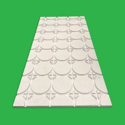 Underfloor Heating Overlay Fermacell Gypsum Boards – 15 m² Komfort 18 mm Universal UFH Pipe Layout