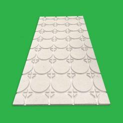 Underfloor Heating Overlay Fermacell Gypsum Boards – 30 m² Komfort 18 mm Universal UFH Pipe Layout