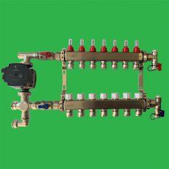 Underfloor Heating 7 Port Manifold and HEAT PUMP Control Pack - Reliance