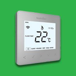 Heatmiser NeoStat Programmable Smart Thermostat 12v - Silver